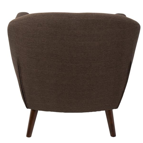 Lumisource Rockwell Chair 30 x 29.75 x 31-in Polyester Brown