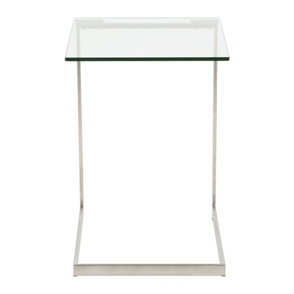 Lumisource Zenn 19.25-in x 19.25-in x 22-in Glass End Table
