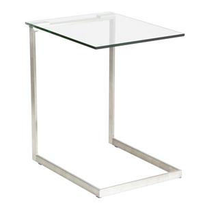 "Table basse Zenn, 19,25"" x 19,25"" x 22"", verre"