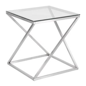 Lumisource 4Z 20.5-in x 20.5-in x 21.75-in Glass Side Table