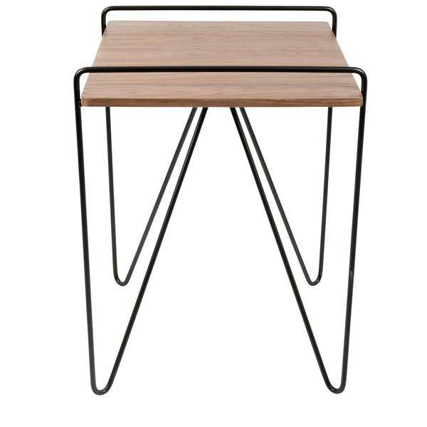 Lumisource Loft 20-in x 20-in x 22-in Walnut and Black Wood End Table
