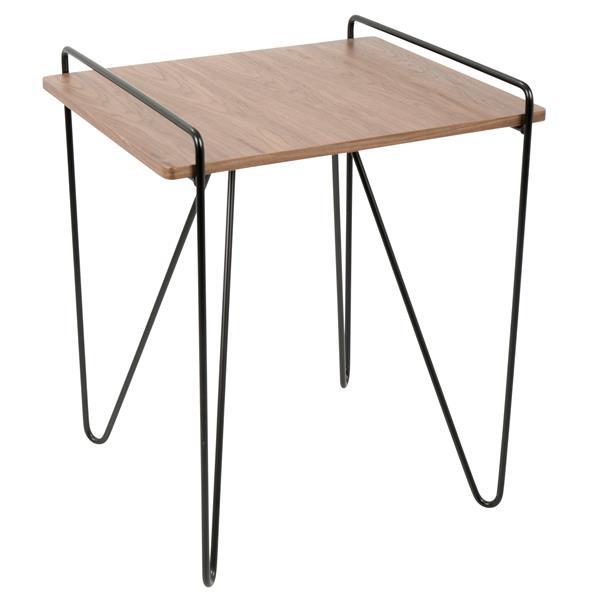 """Table basse Loft, 20"""" x 20"""" x 22"""", bois, noyer et noir"""