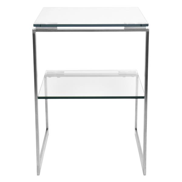 Lumisource 6G 19-in x 19-in x 22.5-in Glass Side Table