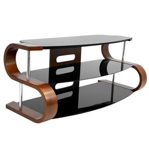 Lumisource Metro 120 Birch and Black TV Stand