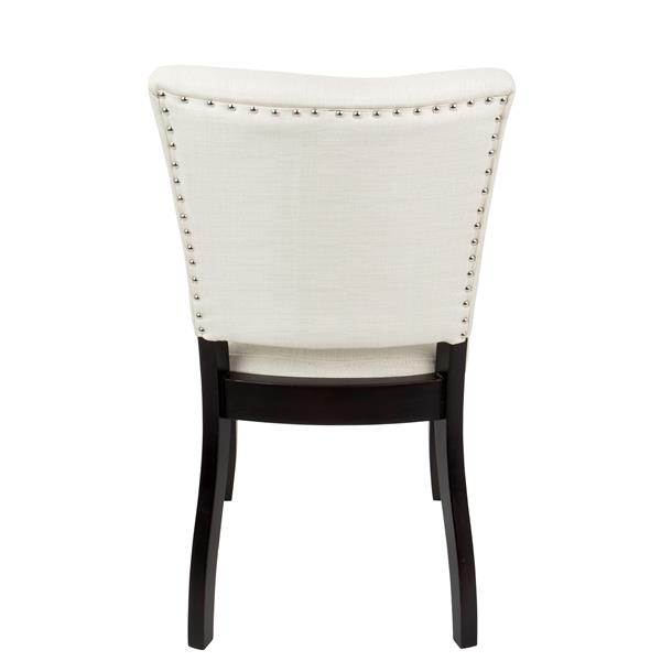 Lumisource Vida 25-in x 35.75-in White Dining Chair (Set of 2)