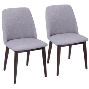 Lumisource Tintori 21.25-in x 33-in Gray Dining Chair (Set of 2)