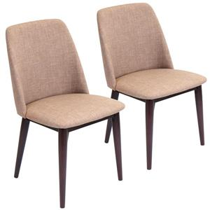 Lumisource Tintori 21.25-in x 33-in Brown Dining Chair (Set of 2)