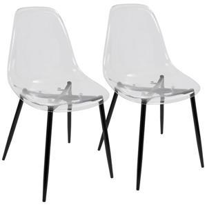 """Chaises Clara,  20,5"""" x 33,5"""", plastique, ensemble de 2"""