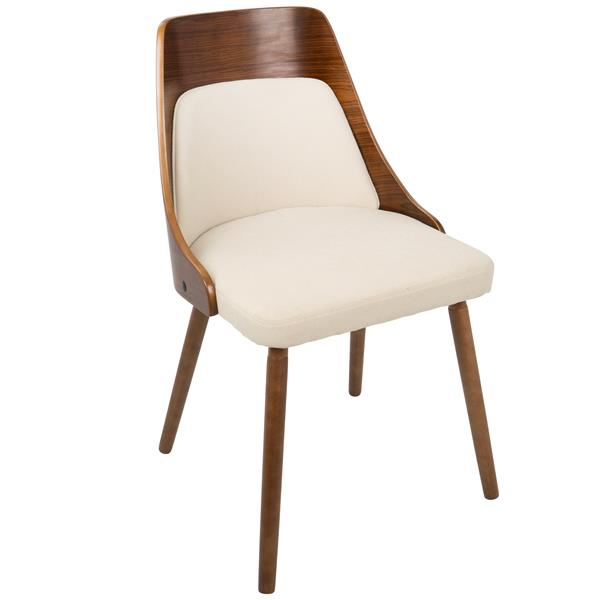 """Chaise Anabelle, 18,75"""" x 30,75"""", polyester, crème"""