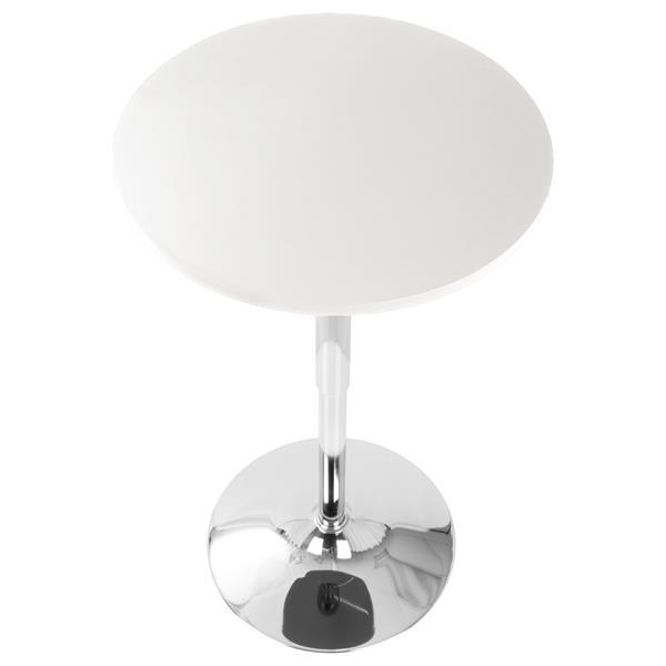"Table de bar Adjustable, 23,5 "" x 23,5 "" x 41 "", blanc"