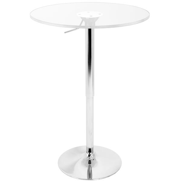 Lumisource 23.5-in x 41-in Clear Adjustable Pub Table