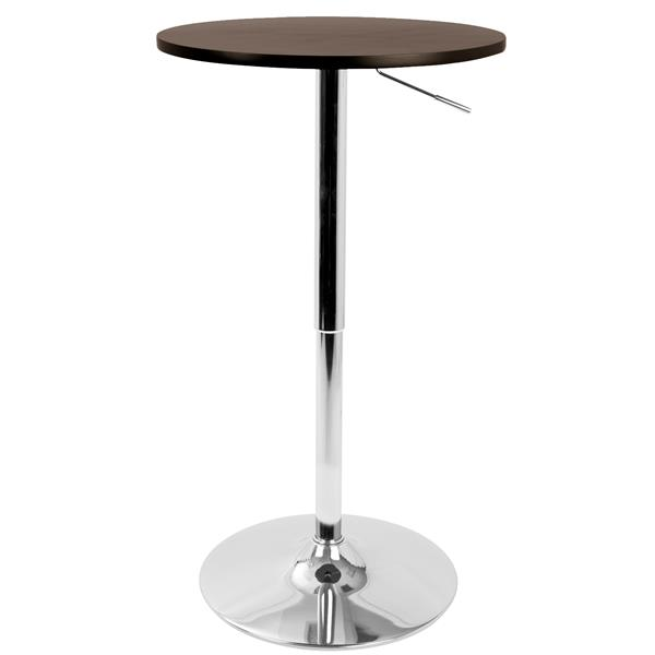 Lumisource 23.5-in x 41-in Brown Wood Adjustable Pub Table
