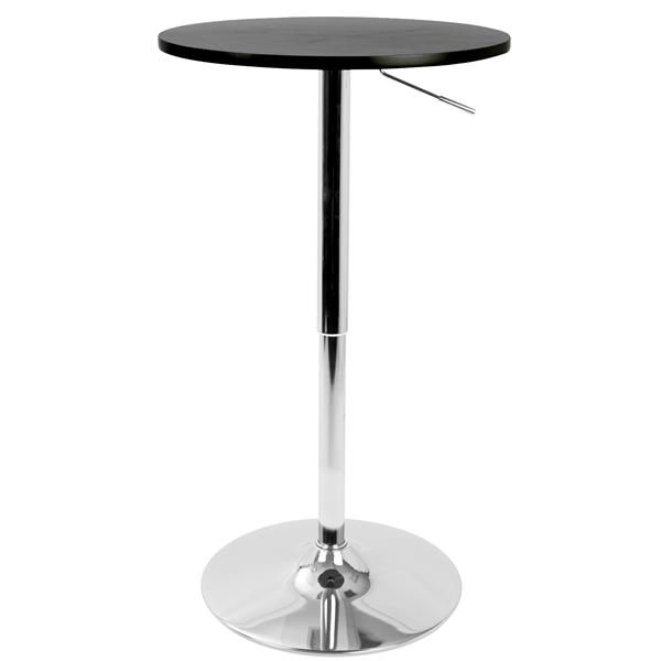 Lumisource 23.5-in x 41-in Black Wood Adjustable Pub Table