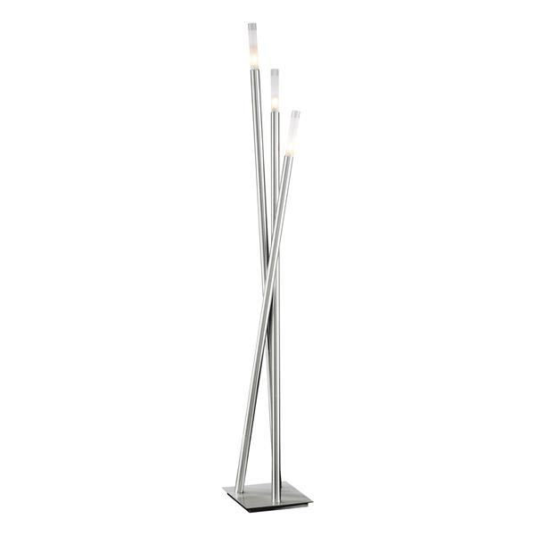 Lumisource Icicle 67-in Brushed Nickel Floor Lamp