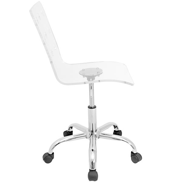 Lumisource Swiss 24-in x 21-in Acrylic Clear Office Chair