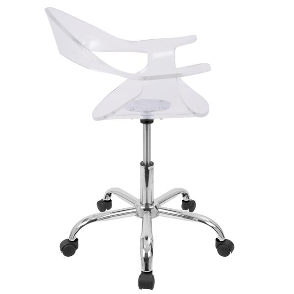 Lumisource Rumor 21-in x 16-in Acrylic Clear Chair
