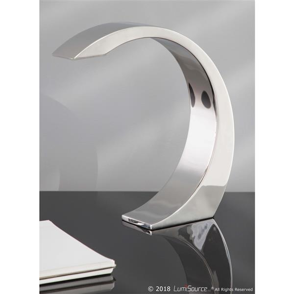 Lumisource Element Touch 2.5-in x 13-in Chrome Finish Table Lamp