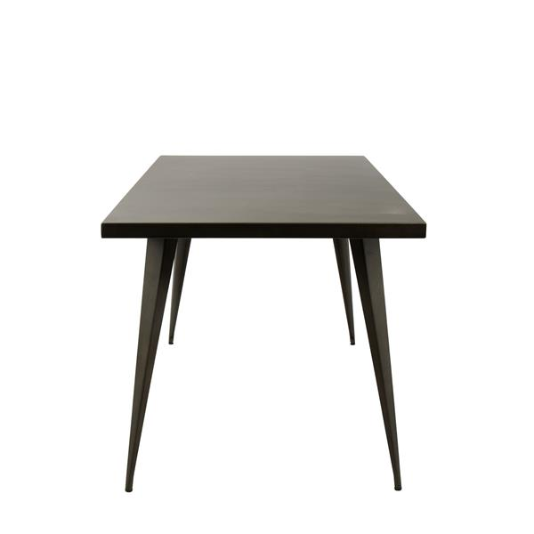 Lumisource Austin Dining Table 59-in x 32-in x 30-in Metal Brown