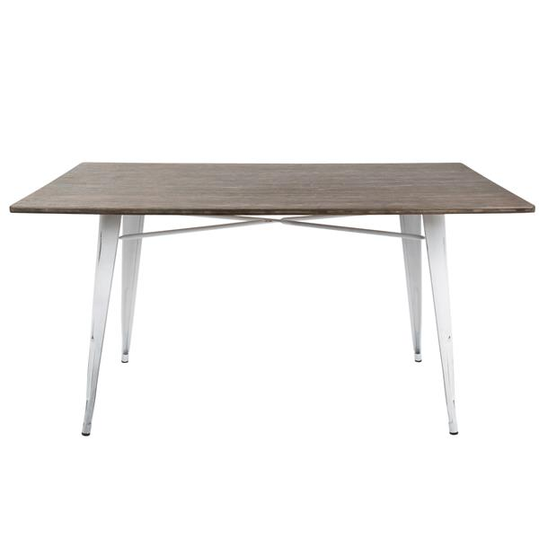 Lumisource Oregon 59-in x 36-in x 30.5-in Wood Espresso Dining Table