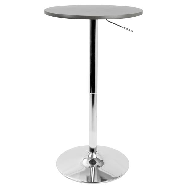 Lumisource 23.5-in x 41-in Grey Wood Adjustable Pub Table