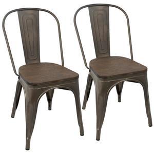 """Chaises de cuisine, 17,25"""" x 32.25"""", expresso, ensemble de 2"""