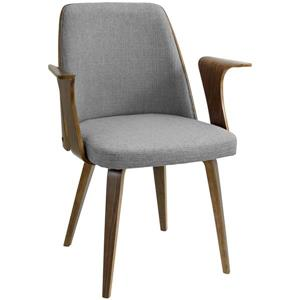 Lumisource Verdana 23-in x 26-in x 32.25-in Gray Polyester Dining Chair