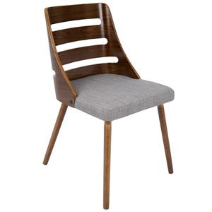 Lumisource Trevi 20.25-in x 18.25-in x 31-in Gray Polyester Dining Chair