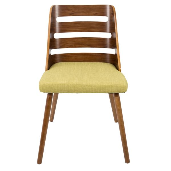Lumisource Trevi 20.25-in x 18.25-in x 31-in Green Polyester Dining Chair