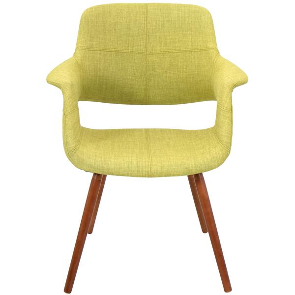 Lumisource Vintage Flair 25.75-in x 33-in Green Polyester Dining Chair