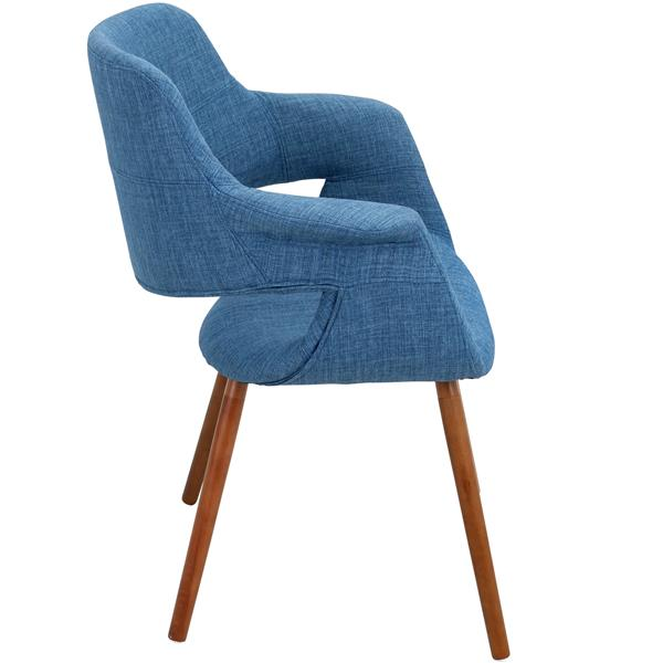 Lumisource Vintage Flair 25.75-in x 33-in Blue Polyester Dining Chair