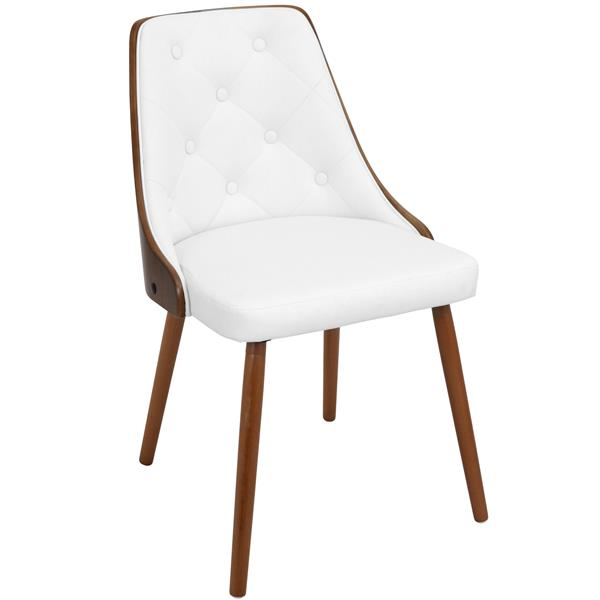 Lumisource Gianna White Faux Leather Chair