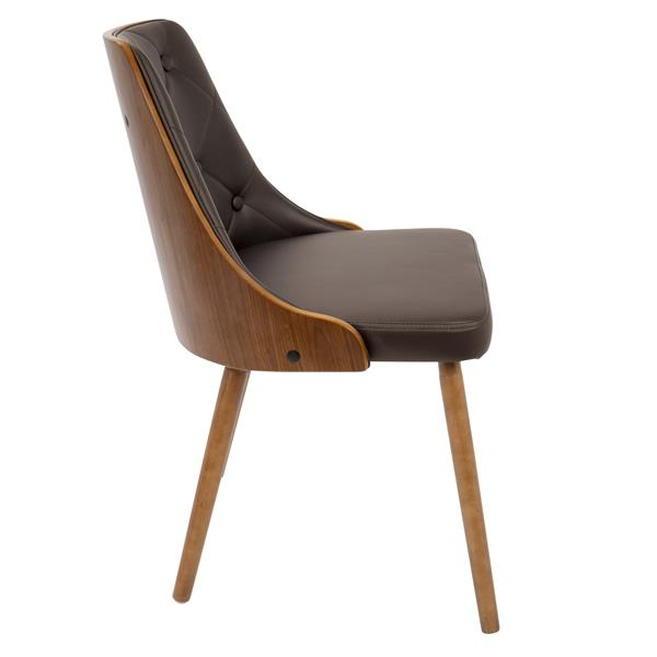 Lumisource Gianna Brown Faux Leather Chair