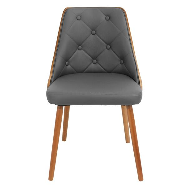 Lumisource Gianna Grey Faux Leather Chair