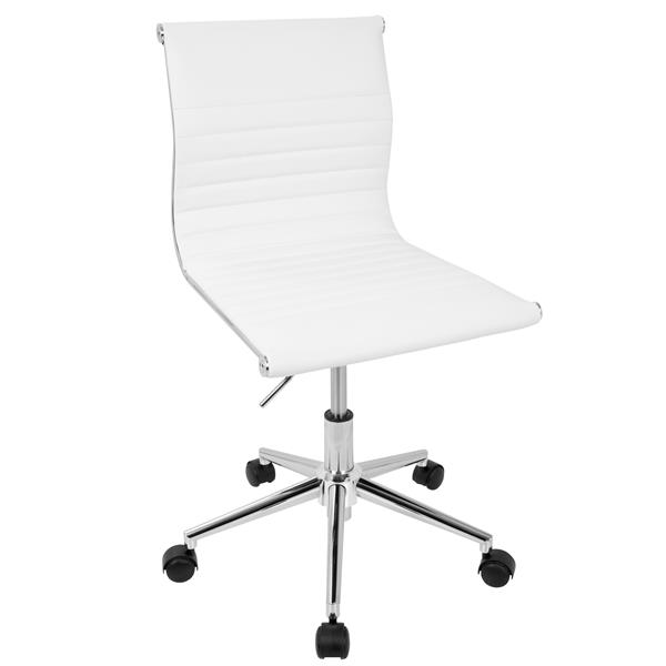 """Lumisource Masters 17"""" x 17"""" x 20"""" White Faux Leather Chair"""
