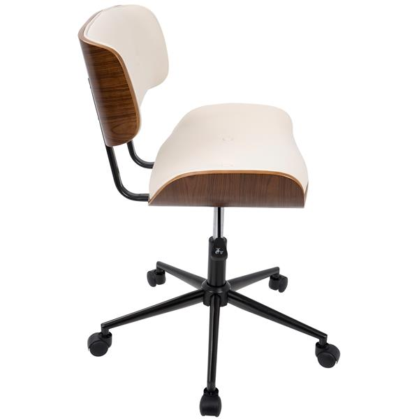 Lumisource Lombardi 15.5-in x 22.5-in x 18.25-in Cream Computer Chair