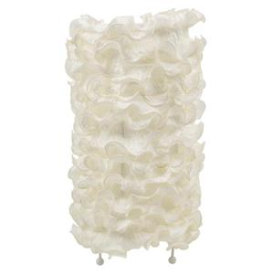 "Lampe de table Lace, 10"" x 18"", soie, blanc cassé"