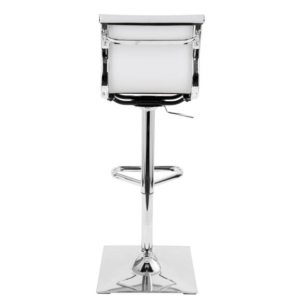 Lumisource Mirage 15.5-in x 17-in x 25-in Metal White Barstool