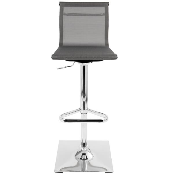 Lumisource Mirage 15.5-in x 17-in x 25-in Metal Silver Barstool