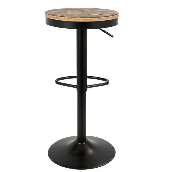 "Tabourets de bar Dakota, 15"" x 23"", noir, ensemble de 2"