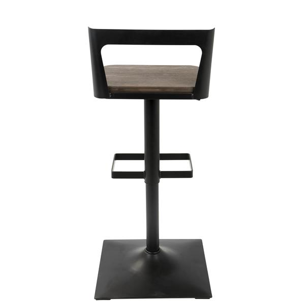 Lumisource Samurai  16.75-in x 22.5-in Black Wood Samurai Bar Stool