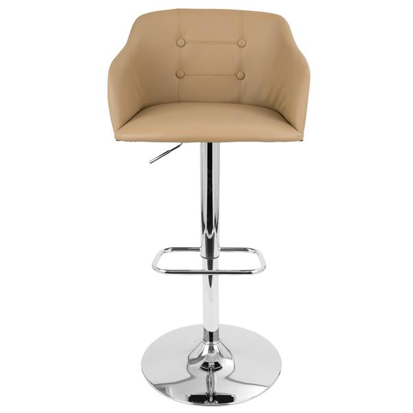 Lumisource Brown Faux Leather Campania Bar Stool