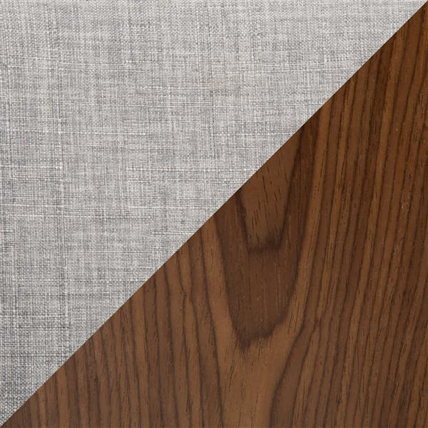Lumisource Curvo 21.25-in x 24.25-in Polyester Grey Bar Stool