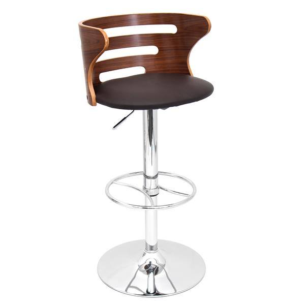 Lumisource Cosi 18.25-in x 23.75-in Faux Leather Cream Bar Stool