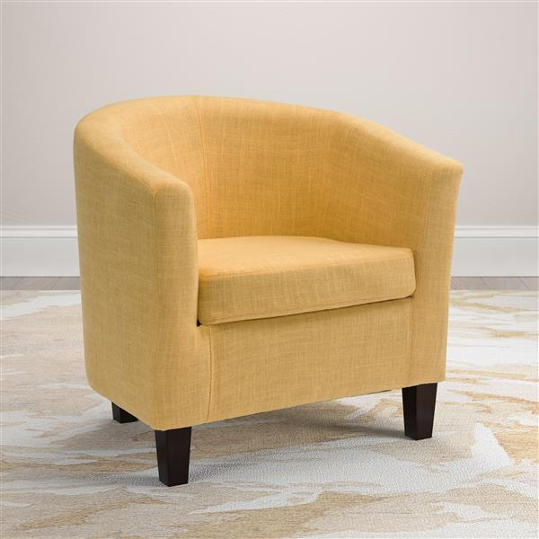 CorLiving Yellow Fabric Tub Chair