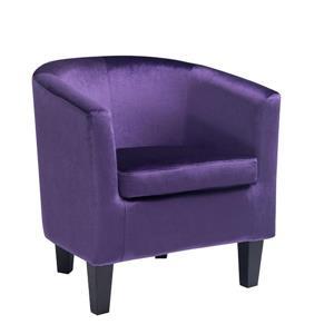 CorLiving Velvet Purple Tub Chair