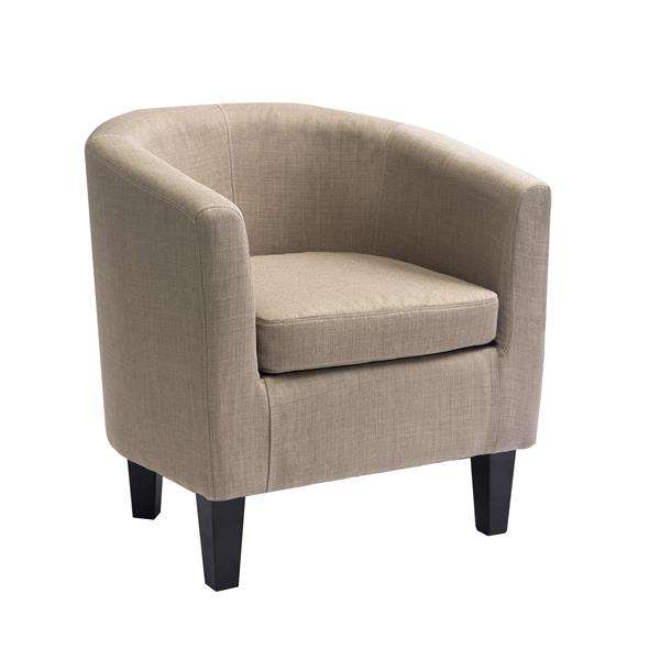CorLiving Beige Fabric Tub Chair