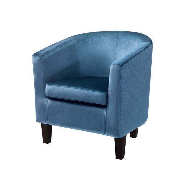 CorLiving Blue Velvet Tub Chair