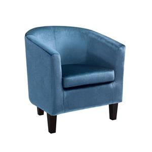 CorLiving Blue Velvet Tub Chair
