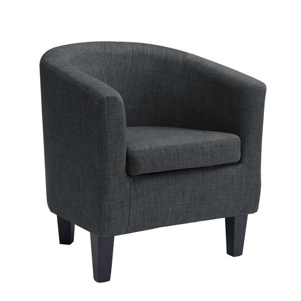 CorLiving Dark Grey Fabric Tub Chair