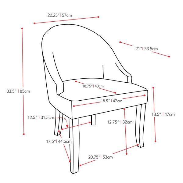 CorLiving Antonio Soft Cream Velvet Accent Chair